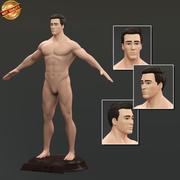 男性裸体 3d model