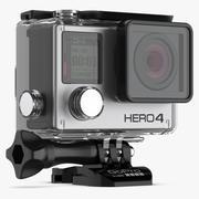 GoPro 4 svart vattentätt väska 3d model