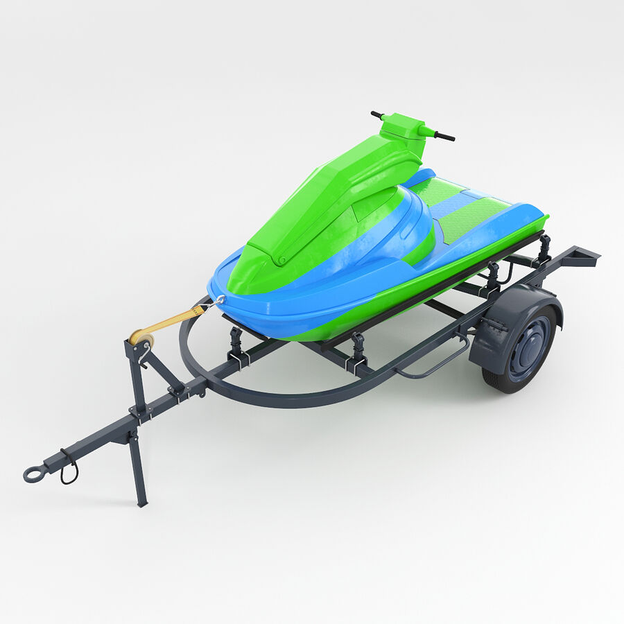 Jet Ski royalty-free 3d model - Preview no. 1