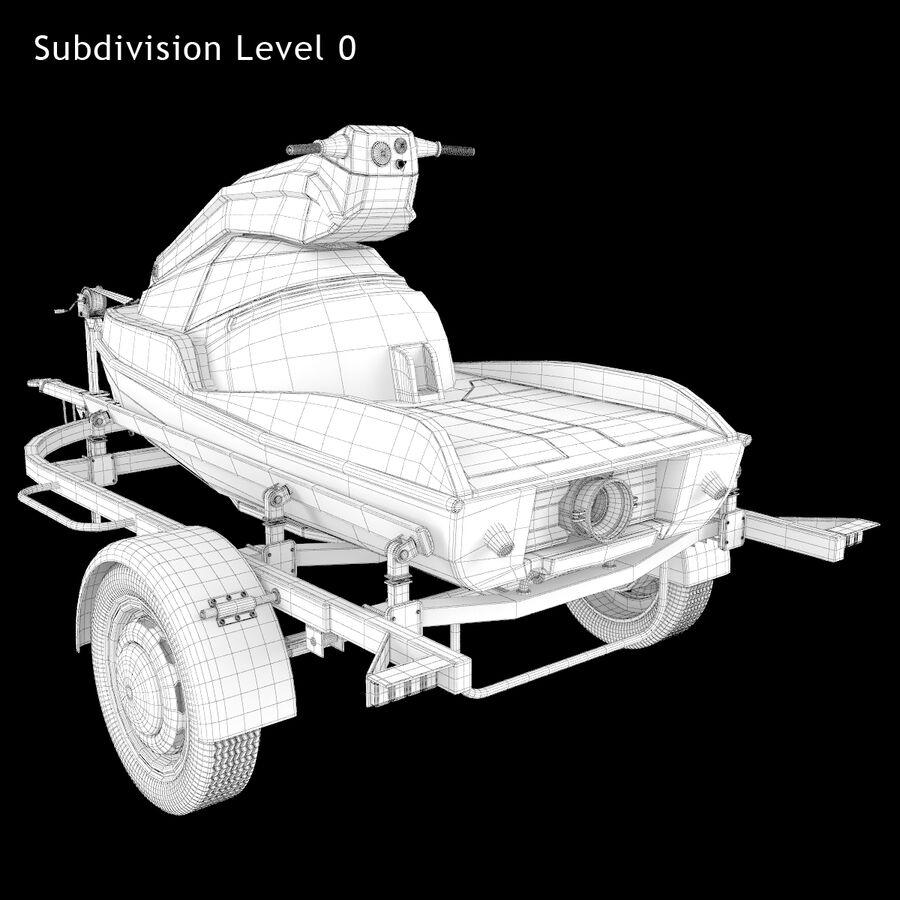 Jet Ski royalty-free 3d model - Preview no. 12