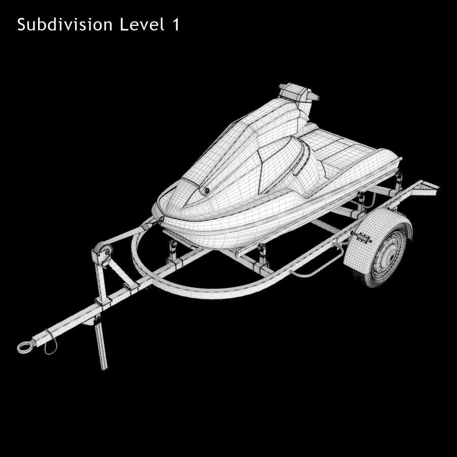 Jet Ski royalty-free 3d model - Preview no. 11
