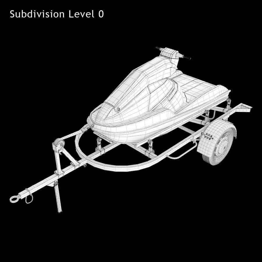 Jet Ski royalty-free 3d model - Preview no. 10