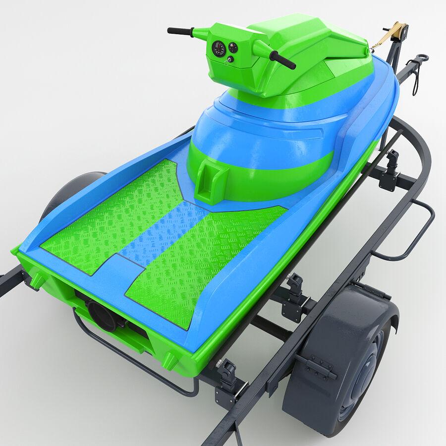 Jet Ski royalty-free 3d model - Preview no. 7