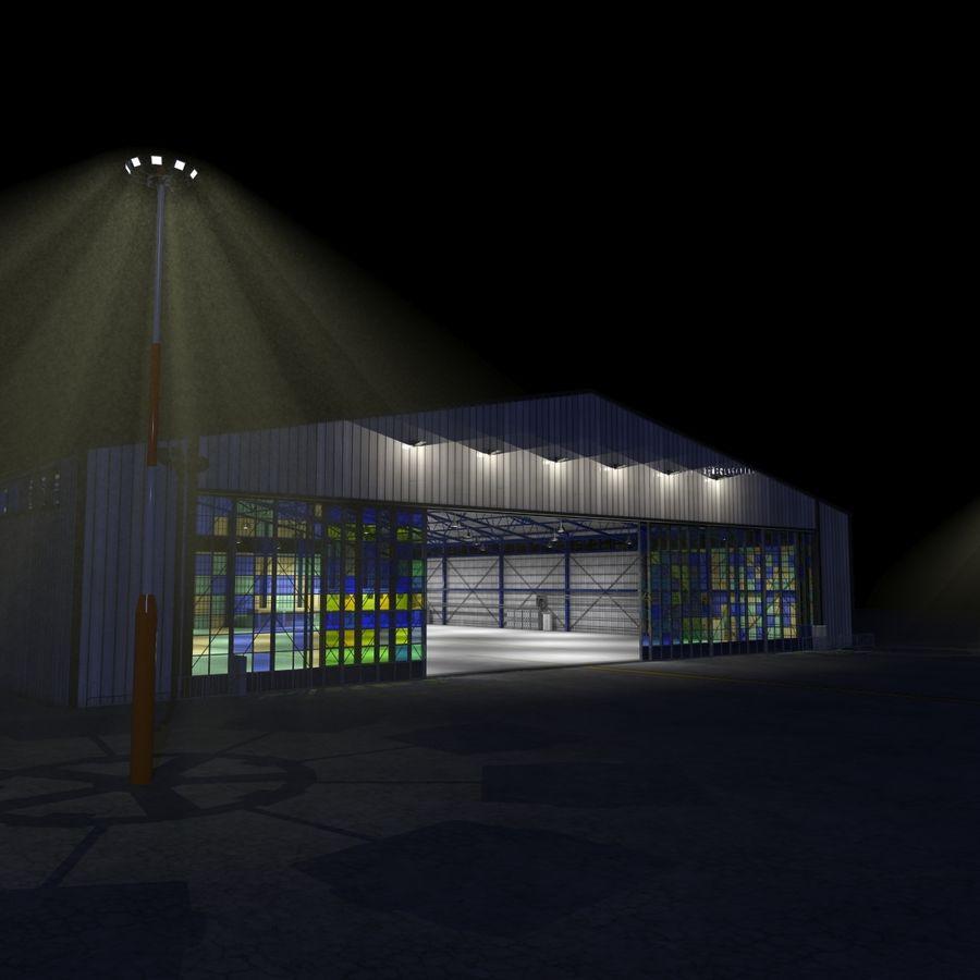 飞机机库 royalty-free 3d model - Preview no. 11