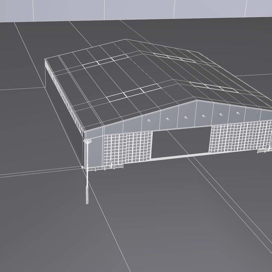 飞机机库 royalty-free 3d model - Preview no. 20