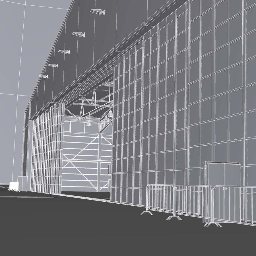 飞机机库 royalty-free 3d model - Preview no. 19