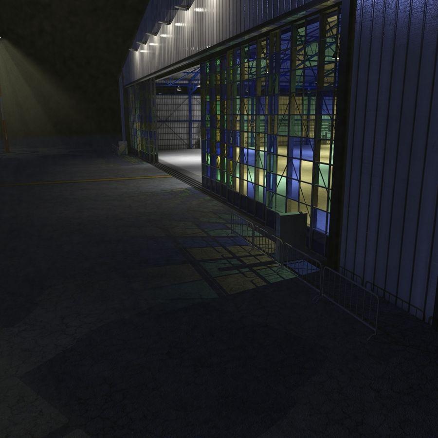 飞机机库 royalty-free 3d model - Preview no. 13