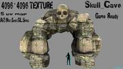 cueva del cráneo modelo 3d