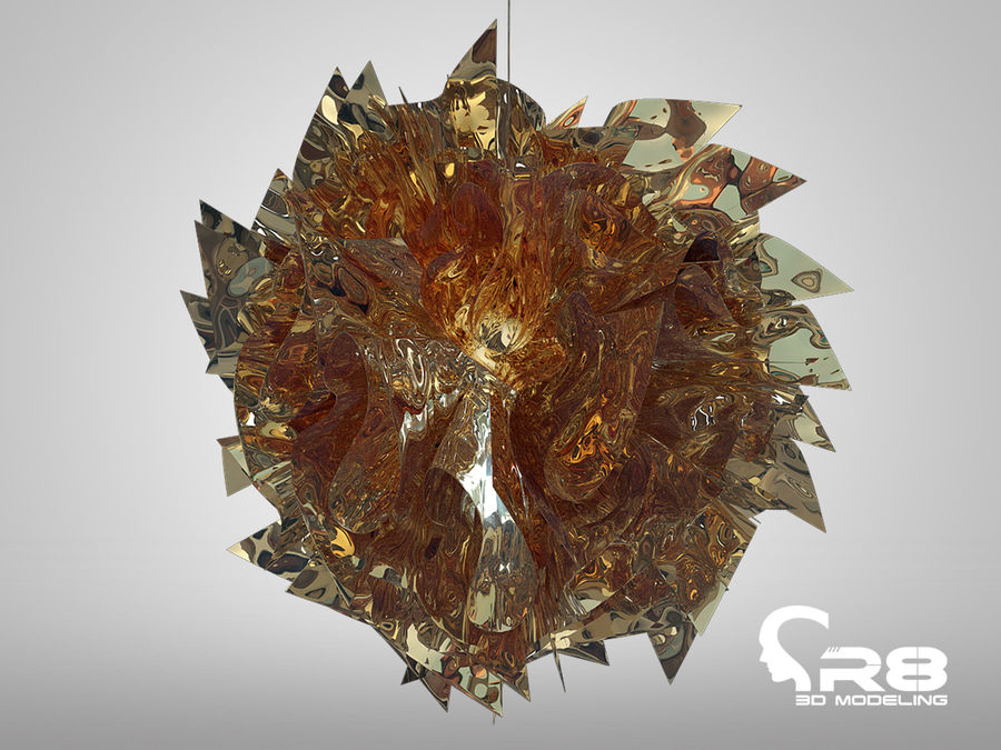 Lamp 3 royalty-free 3d model - Preview no. 3