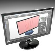 Computer-Bildschirm 3d model