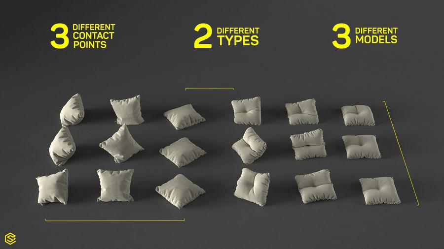 高聚坐垫[18件] royalty-free 3d model - Preview no. 3