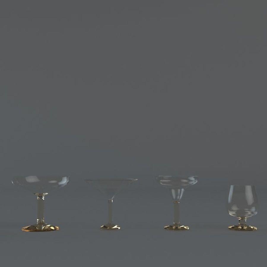 рюмки royalty-free 3d model - Preview no. 2