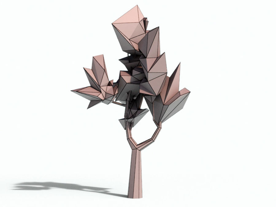 Beautiful Low Poly Tree royalty-free 3d model - Preview no. 2