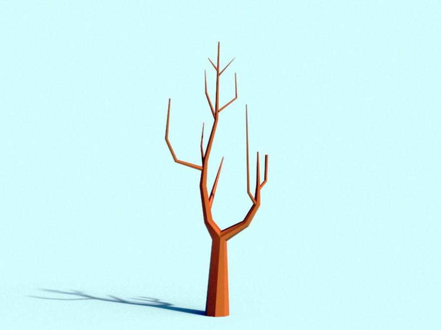 Beautiful Low Poly Tree royalty-free 3d model - Preview no. 4