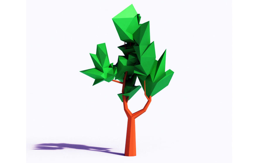 Beautiful Low Poly Tree royalty-free 3d model - Preview no. 1