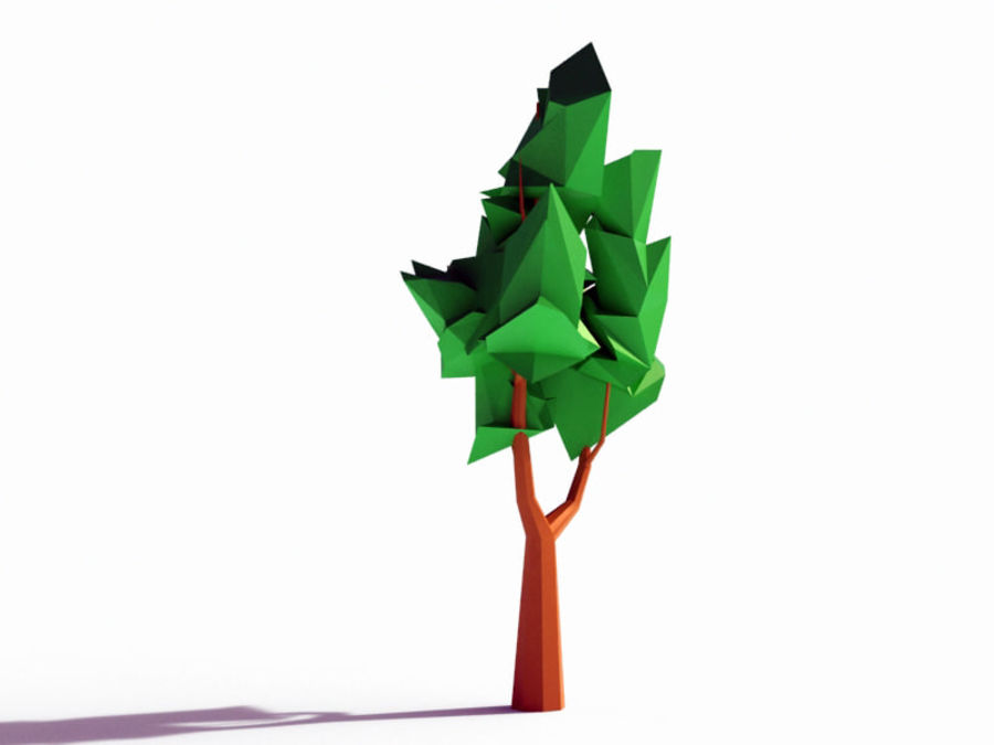 Beautiful Low Poly Tree royalty-free 3d model - Preview no. 3