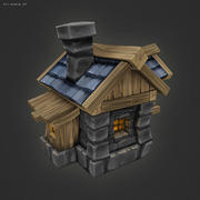 Low Poly RTS Human House 3d model
