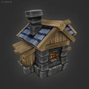 Düşük Poli RTS İnsan Evi 3d model