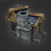 Low Poly RTS Human Factory 3d model