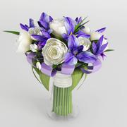 a bouquet of flowers 3d model