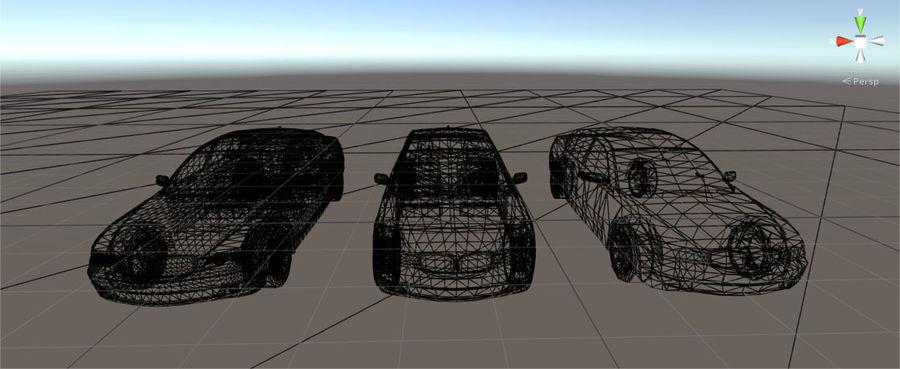 Sedan Car E65 Game Ready royalty-free modelo 3d - Preview no. 6