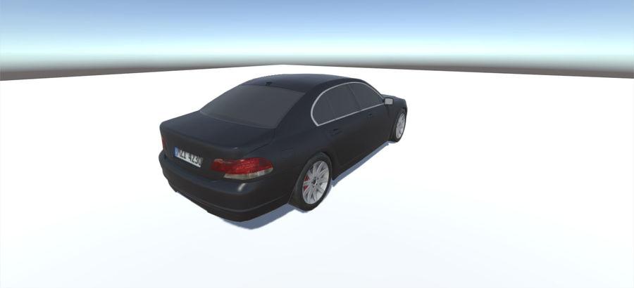 Sedan Car E65 Game Ready royalty-free modelo 3d - Preview no. 2