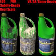 Plastic Gallon Bottle 3d model