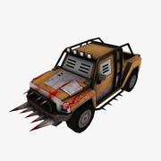 Zombie-apocalyptic SUV 3d model