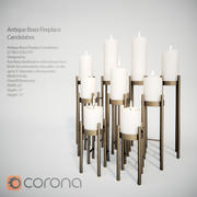 Antique Brass Fireplace Candelabra 3d model