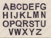 Alfabet låg poly 3d model