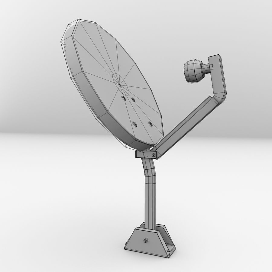 Antena satelitarna royalty-free 3d model - Preview no. 5