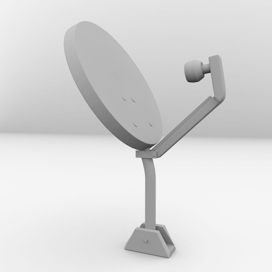 Antena satelitarna royalty-free 3d model - Preview no. 4
