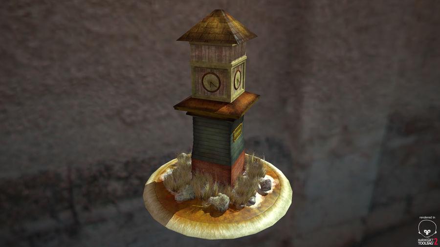 Wieża zegarowa royalty-free 3d model - Preview no. 7