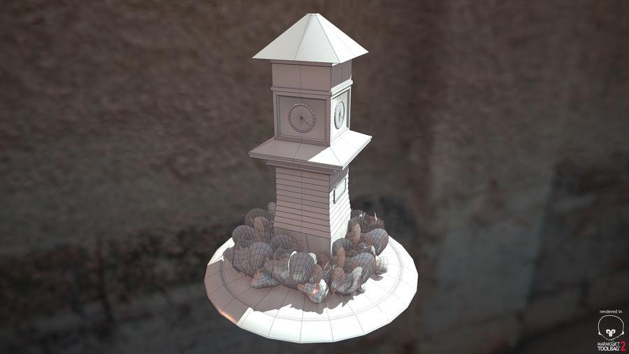 Wieża zegarowa royalty-free 3d model - Preview no. 8
