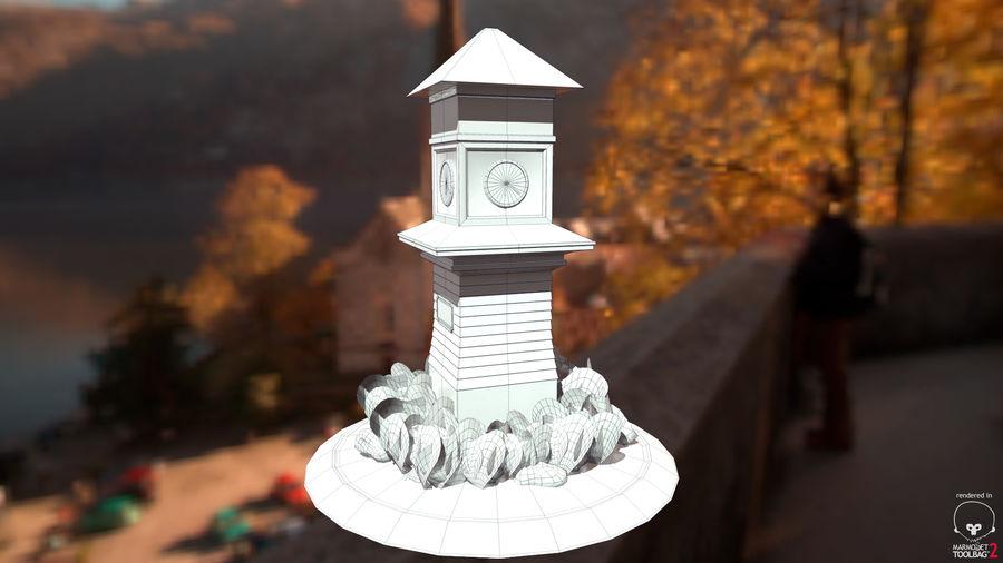 Wieża zegarowa royalty-free 3d model - Preview no. 4