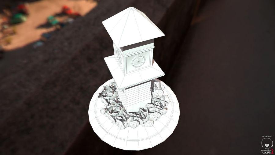Wieża zegarowa royalty-free 3d model - Preview no. 6