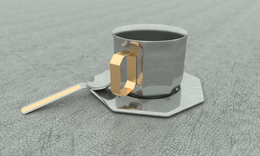 Coffe Cup royalty-free 3d model - Preview no. 2
