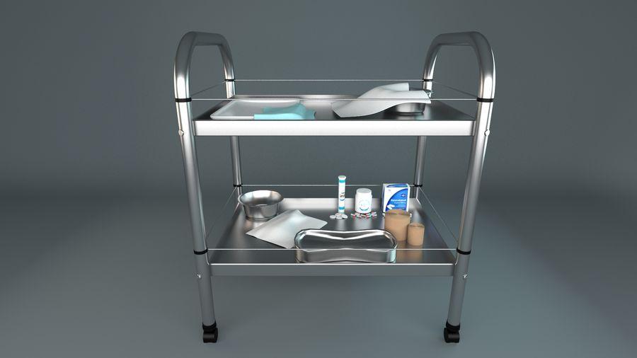 Tıbbi Ekipman Arabası royalty-free 3d model - Preview no. 1