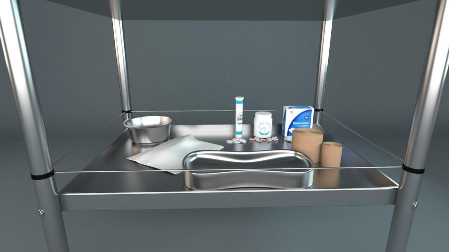 Tıbbi Ekipman Arabası royalty-free 3d model - Preview no. 2