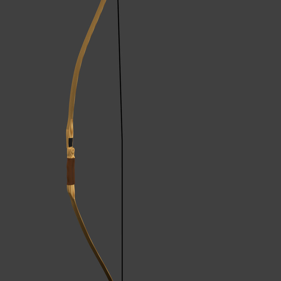 Arco Recurvo de Madeira royalty-free 3d model - Preview no. 1