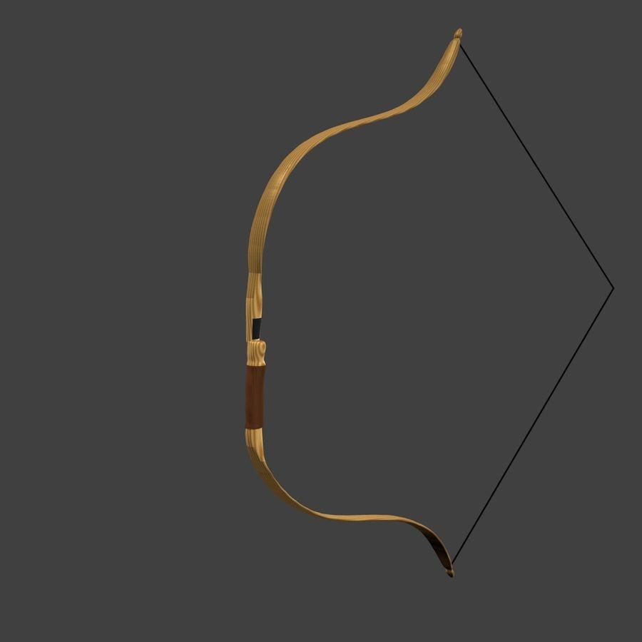 Arco Recurvo de Madeira royalty-free 3d model - Preview no. 3