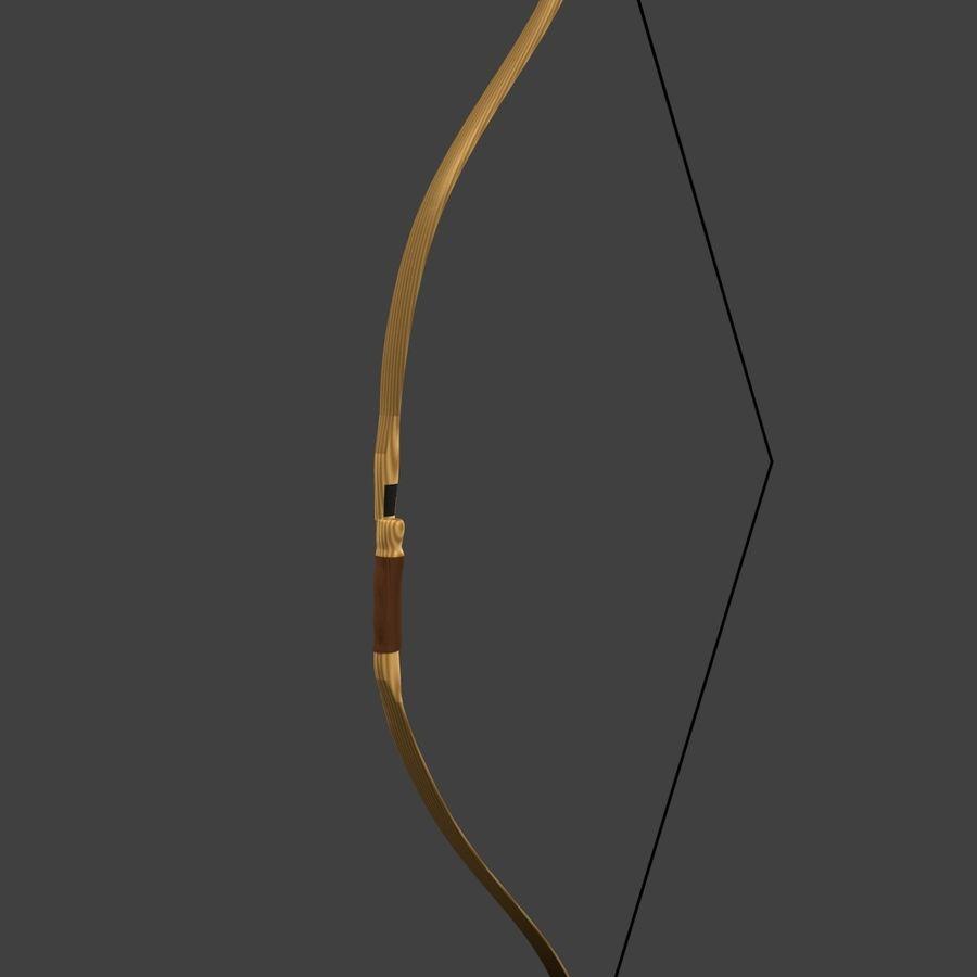 Arco Recurvo de Madeira royalty-free 3d model - Preview no. 4
