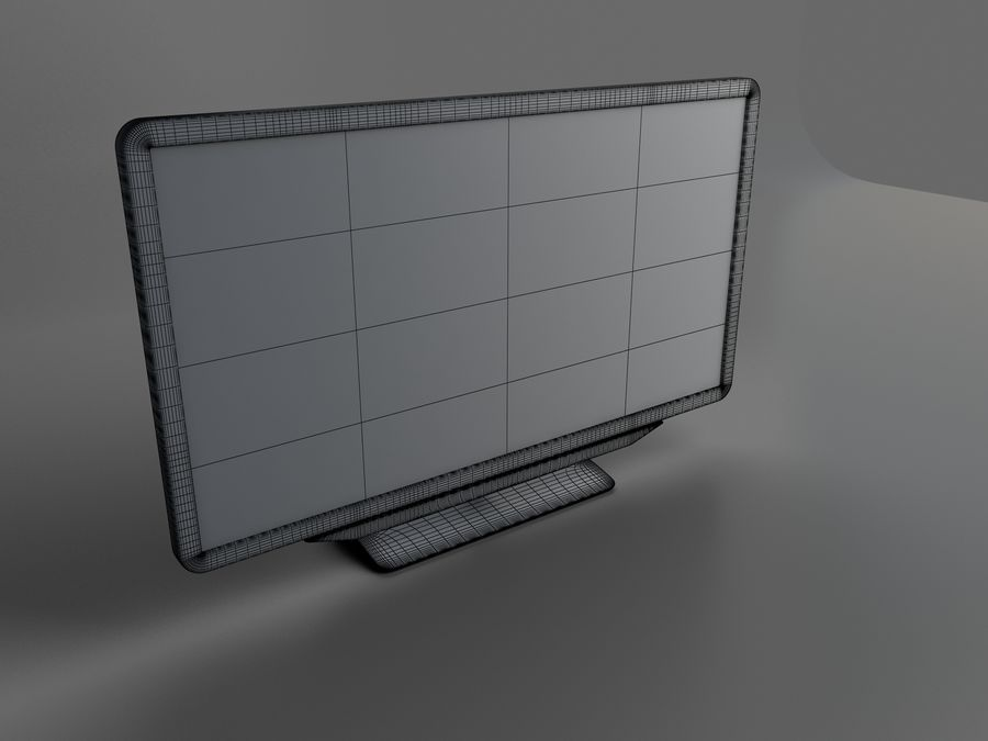 TV LED Philips royalty-free 3d model - Preview no. 4