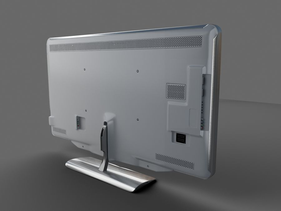 TV LED Philips royalty-free 3d model - Preview no. 1