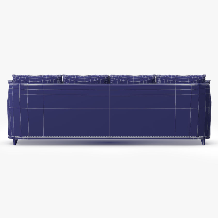 Hickory Möbel Jules Sofa royalty-free 3d model - Preview no. 11