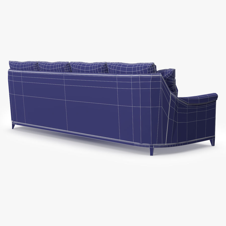 Hickory Möbel Jules Sofa royalty-free 3d model - Preview no. 10