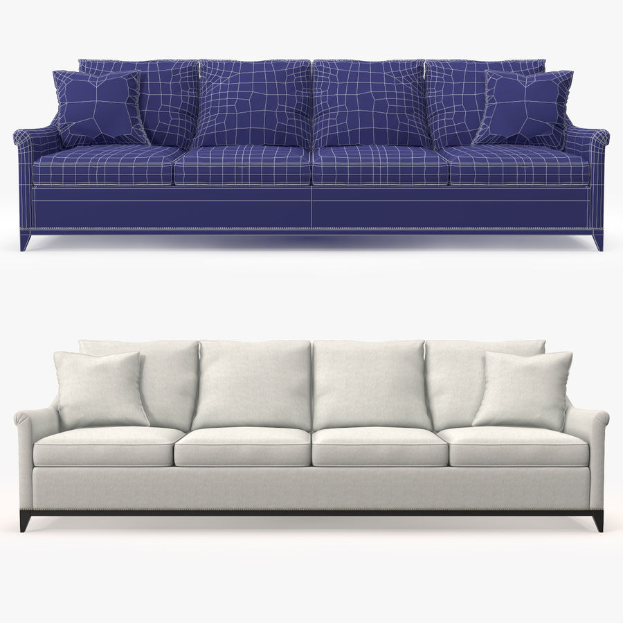 Hickory Möbel Jules Sofa royalty-free 3d model - Preview no. 1