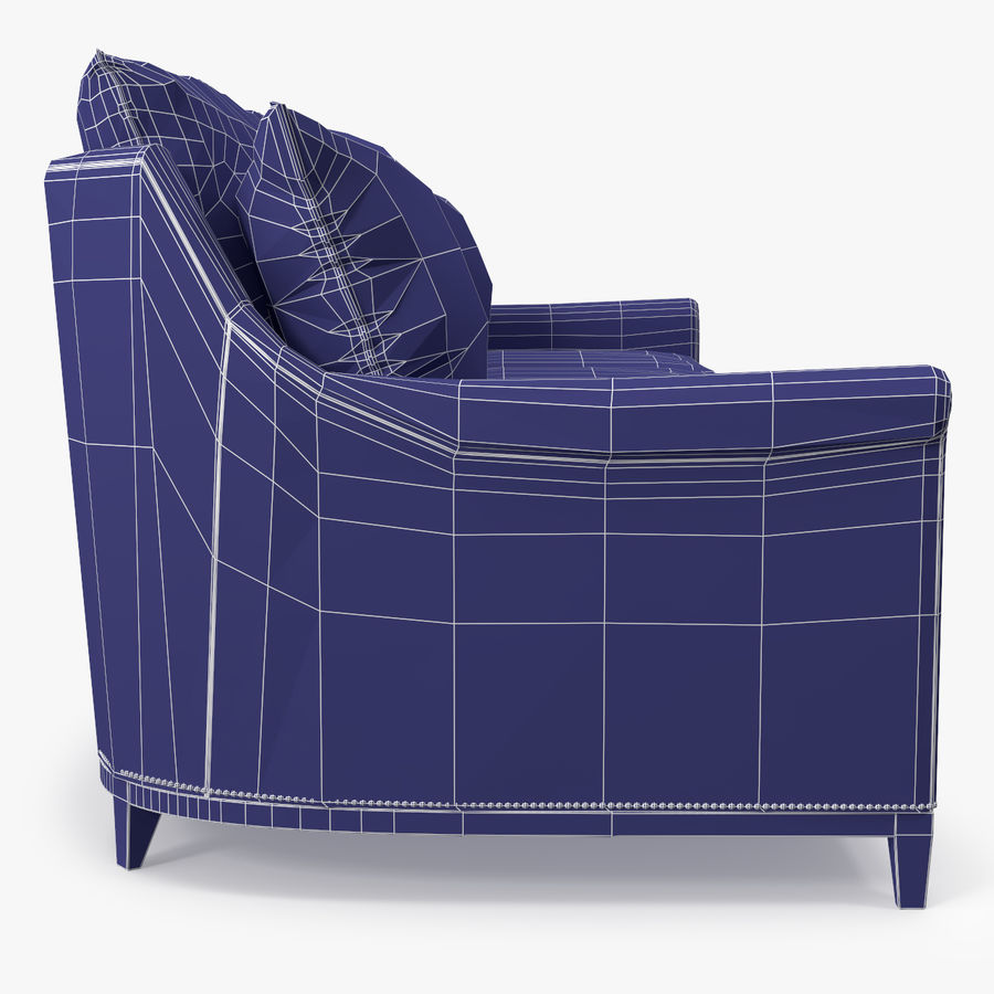 Hickory Möbel Jules Sofa royalty-free 3d model - Preview no. 9