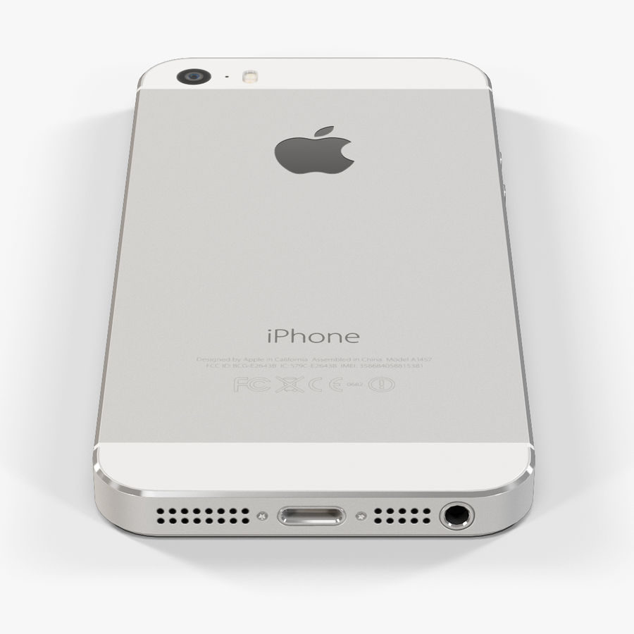 Apple iPhone 5S royalty-free 3d model - Preview no. 13