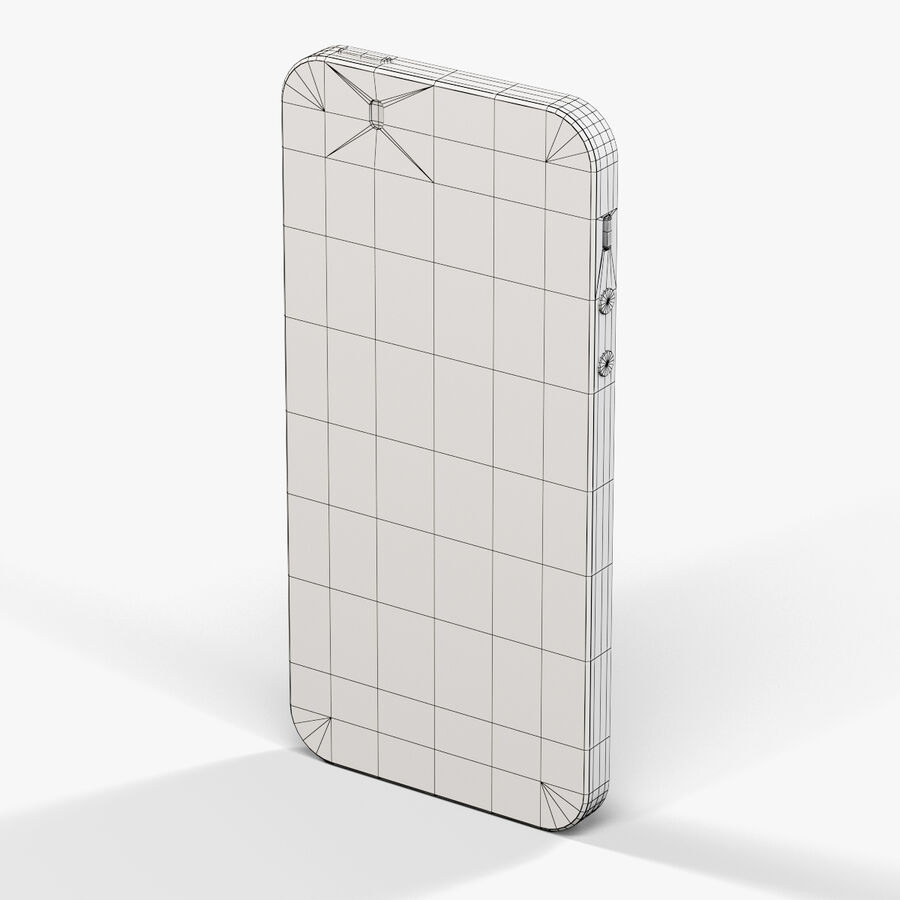 Apple iPhone 5S royalty-free 3d model - Preview no. 3